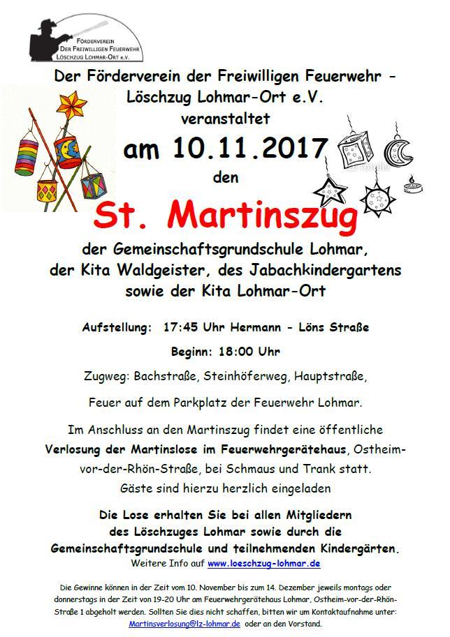 Sankt Martinszug 10.11.2017